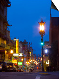 Chinatown at Night, San Francisco, California, USA Posters by Julie Eggers