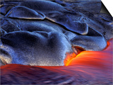 Volcanic Eruption, Volcanoes National Park, Kilauea, Big Island, Hawaii, USA Posters by Art Wolfe