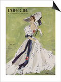L'Officiel - Robe de Garden Party de L. Mendel Print by  Mourgue