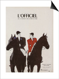 L'Officiel - Chapeaux d'Automne, Tissus d'Hiver Poster by  Mourgue