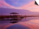 Clouds Reflecting on a Creek at Sunrise, Savannah, Georgia, Usa Print by Joanne Wells