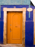 Door on Colorful Blue House, Guanajuato, Mexico Prints by Julie Eggers