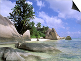 Granite Outcrops, La Digue Island, Seychelles, Africa Prints by Pete Oxford