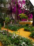 Garden Courtyard, Marrakech, Morocco Prints by John & Lisa Merrill