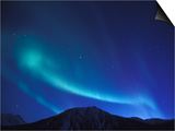 Northern Lights Over Endicott Mountains, Gates of the Arctic National Preserve, Alaska, USA Poster by Hugh Rose