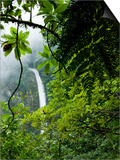 Waterfall in Rainforest Along Fortuna River, La Fortuna, Costa Rica Posters by Paul Souders