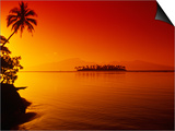 Sunset, Moorea, French Polynesia Prints by Douglas Peebles