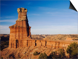 Lighthouse at Sunset, Palo Duro Canyon State Park, Canyon, Panhandle, Texas, USA Poster by Rolf Nussbaumer