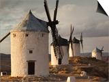 La Mancha Windmills, Consuegra, Castile-La Mancha Region, Spain Prints by Walter Bibikow
