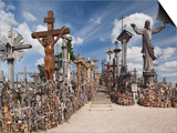 Hill of Crosses, Siauliai, Central Lithuania, Lithuania Prints by Walter Bibikow