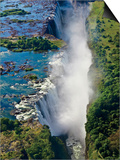 Aerial View of Victoria Falls, Waterfall, and the Zambesi River, Zimbabwe Posters by Miva Stock