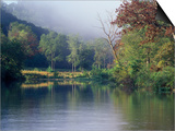 Morning Fog on River, Missouri, USA Prints by Gayle Harper