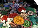 Dong Ba Market, Hue, Vietnam Print by Keren Su