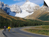 Road Bicycling on the Icefields Parkway, Banff National Park, Alberta, Canada Posters by Chuck Haney