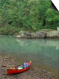 Canoe by the Big Piney River, Arkansas Posters by Gayle Harper