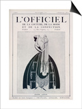 L'Officiel, February 15 1922 - Jeanne Lanvin (Illustration) Poster by  Delphi