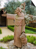 St. Francis Statue at the St. Francis Vineyards and Winery, Sonoma Valley, California, USA Prints by Julie Eggers