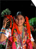 Colorful Dancer, Tourism in Oaxaca, Mexico Posters by Bill Bachmann