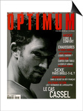 L'Optimum, April-May 1999 - Vincent Cassel Porte un Tee-Shirt Col V en Coton Chiné Calvin Klein Posters by Antonio Spinoza