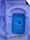 Traditional Moorish-styled Blue Door, Morocco Posters by John & Lisa Merrill