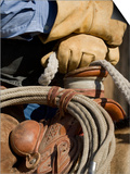 Cowboy's Gloved Hands, Ponderosa Ranch, Seneca, Oregon, USA Posters by Wendy Kaveney