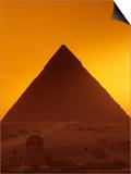 Pyramid of Khafre and Sphinx, Giza Plateau, Old Kingdom, Egypt Plakater af Kenneth Garrett