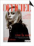 L'Officiel, 2003 - Emmanuelle Béart Porte une Veste en Coton et Soie Noire Dolce & Gabbana Posters by Anuschka Bloomers & Niels Schumm