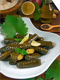 Stuffed Vine Leaves, Dolmades, Arabic Countries, Arabic Cooking, Greek Food, Turkish Food Prints by Nico Tondini
