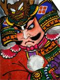 Samurai, Warrior Folk Art, Takamatsu, Shikoku, Japan Print by Dave Bartruff