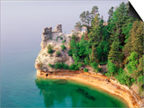 Pictured Rocks National Seashore on Lake Superior, Miner's Castle, Michigan, USA Prints by Adam Jones