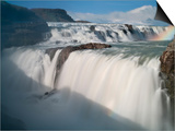 The Hvita River Roars Over Gullfoss Waterfall, Iceland Print by Don Grall