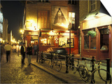 Temple Bar area at night, Dublin, Ireland Posters by Alan Klehr