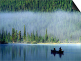 Boys Fishing on Waterfowl Lake, Banff National Park, Alberta, Canada Prints by Janis Miglavs