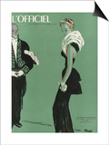 L'Officiel, October 1945 - Robe de Lucien Lelong Posters by  Benito