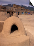 Oven in Taos Pueblo, Rio Grande Valley, New Mexico, USA Posters by Art Wolfe