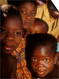Faces of Ghanaian Children, Kabile, Brong-Ahafo Region, Ghana Posters by Alison Jones