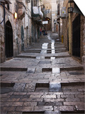 Ancient Street in the Old Town, Jerusalem, Israel Poster by Keren Su