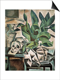 Still Life with Skull Poster by Bohumil Kubista