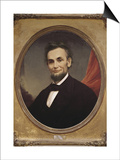 Portrait of Abraham Lincoln Print by Matthew Henry Wilson