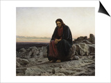 Christ in the Wilderness Prints by Ivan Nikolaevich Kramskoi