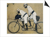 Ramon Casas and Pere Romeu on a Tandem Art by Ramon Casas Carbo