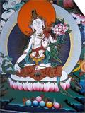 White Tara from Monastery Wall, Lhasa, Tibet Poster by Vassi Koutsaftis
