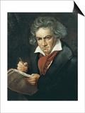 Ludwig Van Beethoven Composing the Missa Solemnis Art by Josef Karl Stieler