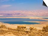 Masada Ruins, Dead Sea, Israel Prints by Keren Su