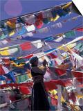 Pilgrim Praying Among Flags, Tibet Posters by Keren Su