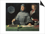 Portrait of Fra Luca Pacioli with a Pupil Print by Jacopo de'Barbari