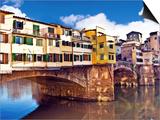 Miva Stock - Ponte Vecchio and Arno River, Florence, Tuscany, Italy Obrazy