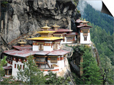 Tigernest, Very Important Buddhist Temple High in the Mountains, Himalaya, Bhutan Posters by Jutta Riegel