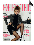 L'Officiel, August 1994 - Bridget Hall, Star Des Tops Models Porte Le Nouveau Chanel Posters by Francesco Scavullo