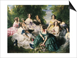 Portrait of the Empress Eugenie Surrounded by Her Ladies in Waiting Posters by Franz Xavier Winterhalter
